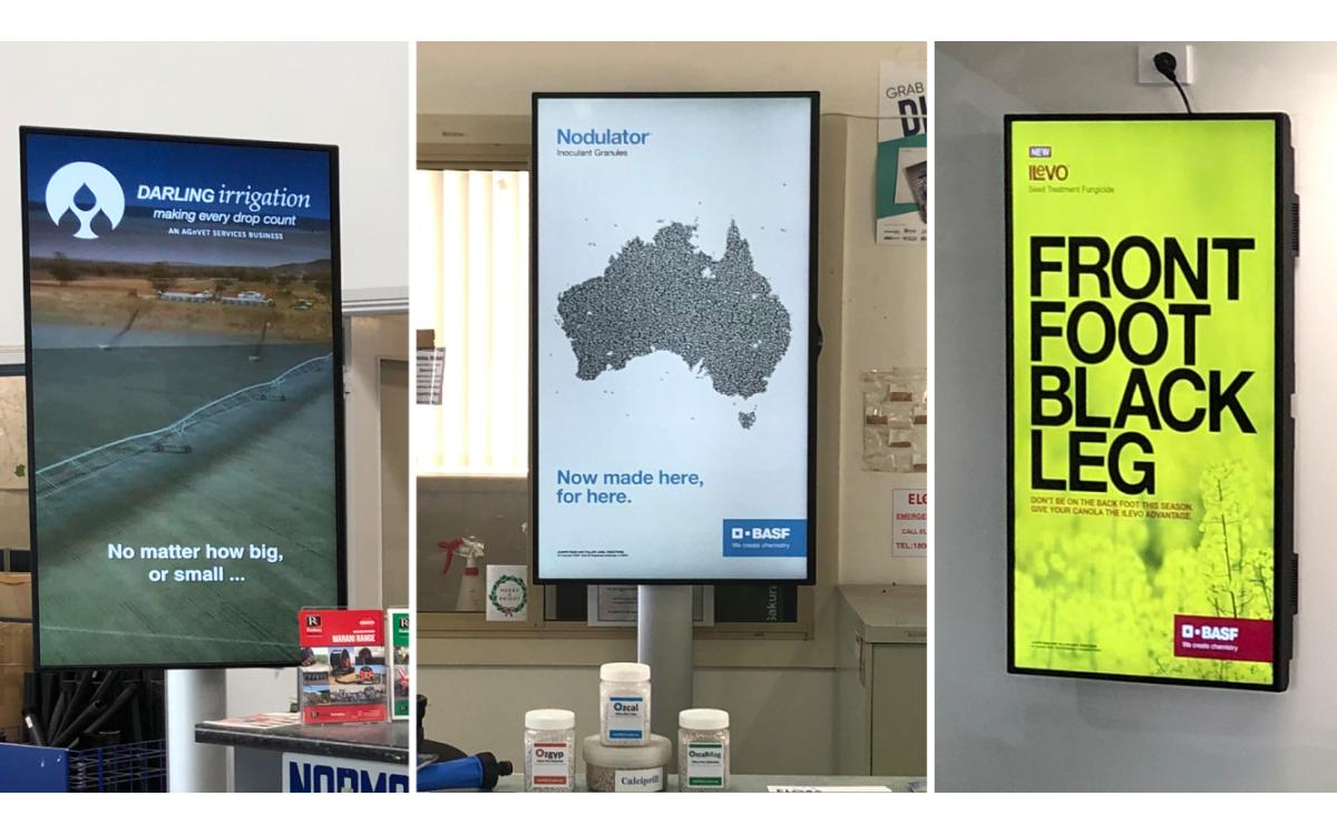Signagelive stattete 42 Filialen von Agrarunternehmen AGnVET in Australien mit Digital Signage aus (Foto: Signagelive)