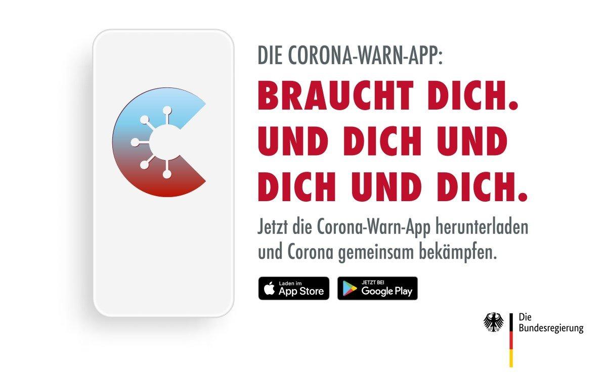 Die Einführungskampagne der Corona-Warn-App soll zum Mitmachen animieren – Gemeinsam gegen Corona (Foto: Weischer.JvB)
