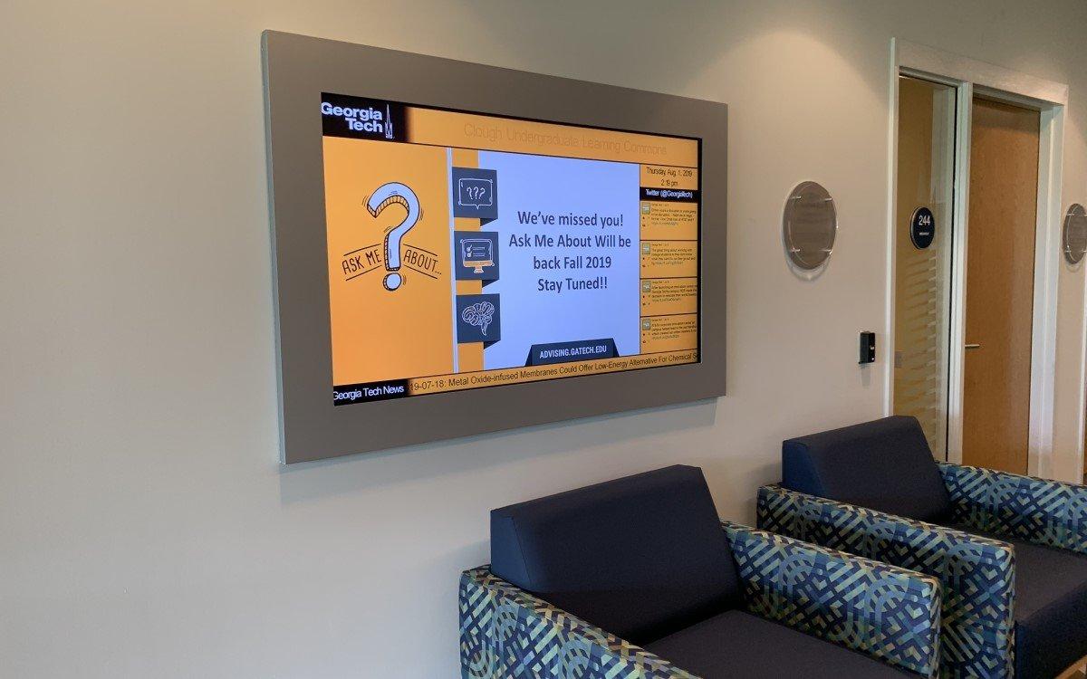 Neue Signage für die Georgia Tech University – Für das Projekt bündelten BirghtSign und 22MILES ihre Expertise (Foto: BrightSign)