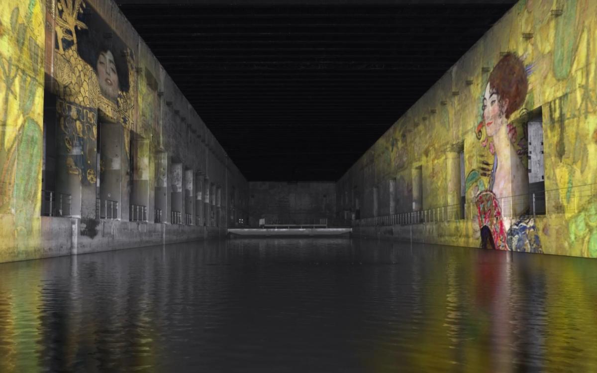Das Bassins des Lumieres Digital Art Center befindet sich in einem alten U-Boot-Hafen und begeistert mit AV-Kunst (Foto: Screenshot)