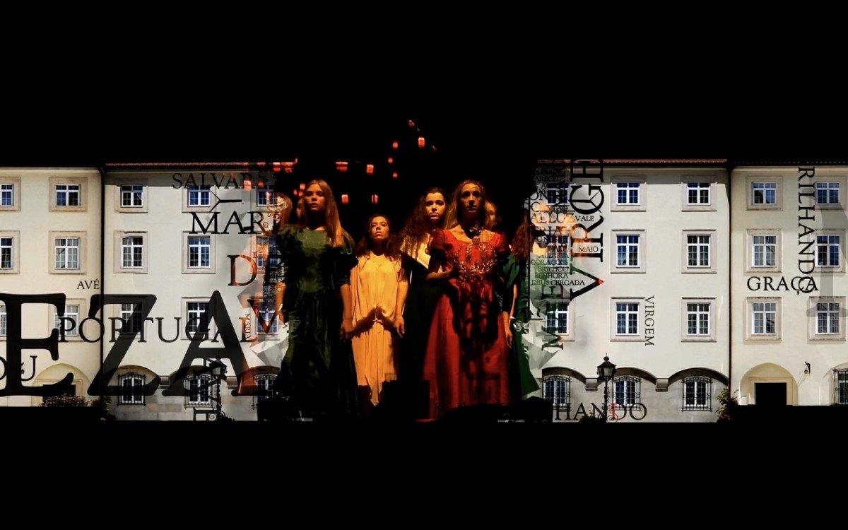 Die renommierte Vortice Dance Company streamte für Pilger live ein 90 Quadratmeter großes Video-Mapping mit Technik von Christie (Foto: Vortice Dance Company)