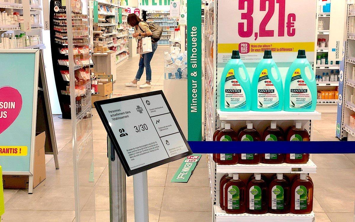 Zählen, informieren, Wartezeit anzeigen – ePaper-Displays als kostengünstige Alternative zu professionellen Displays (Foto: Visionect)