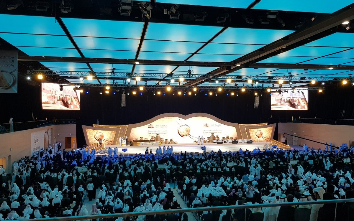 Der Sport- und Veranstaltungskomplex der Universität Katar inszeniert von Techno-Q (Foto: AVIXA)