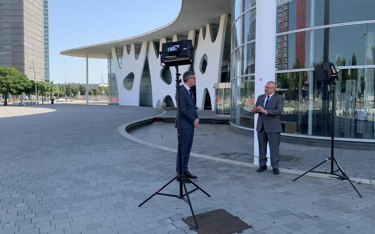 invidis im Gespräch mit Constantí Serrallonga / CEO Fira Barcelona (Foto; invidis)