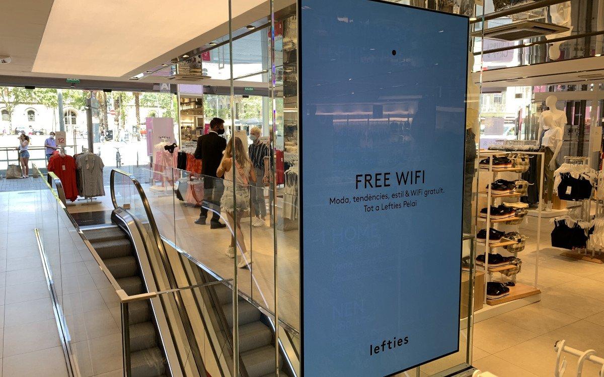 Free-Wifi bei Indotex (Foto: invidis)