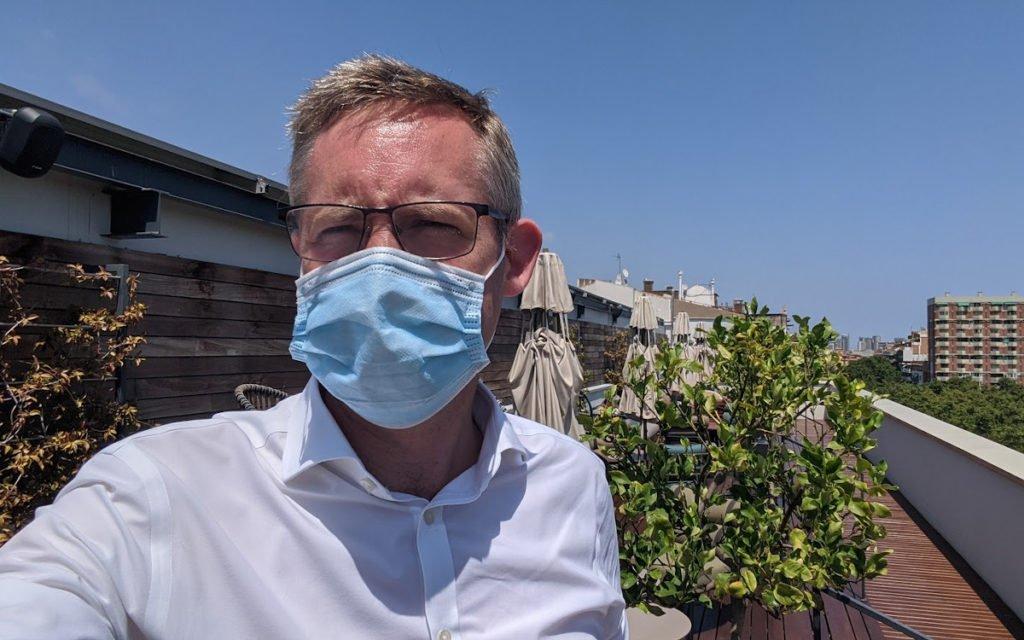 Nicht ohne meine Maske - in weiten Teilen Spaniens herrscht strenge Maskenpflicht (Foto: invidis)