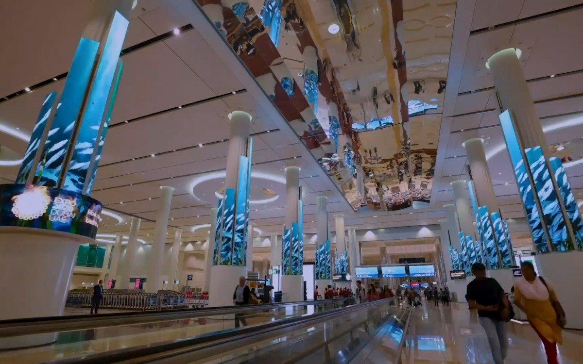 LED-Skulptur für Expo2020 am Flughafen in Dubai (Foto: PixelArtworks)