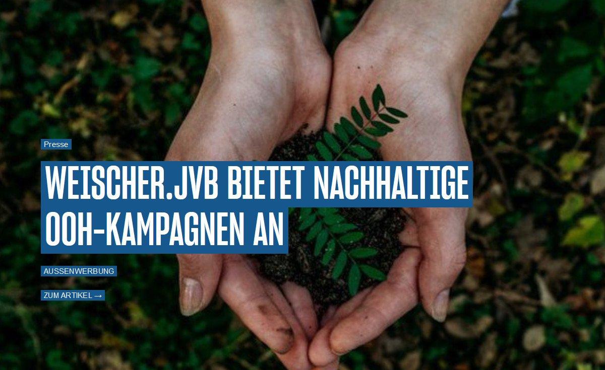 Nachhaltiger Werben mit Weischer (Foto: Screenshot)