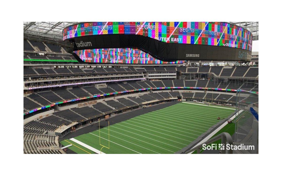 Weltgrößte LED-Wand im SoFi Stadium in Los Angeles (Foto: SoFi)