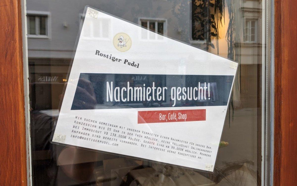 Nachmieter gesucht - nicht nur in Gastronomie scheitern in der Krise Unternehmenskonzepte (Foto: invidis)