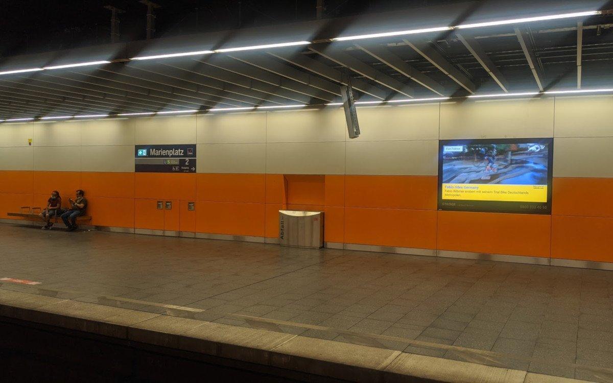 Jetzt auch in Landscape - Ströer an S-Bahn Stationen in München (Foto: invidis)