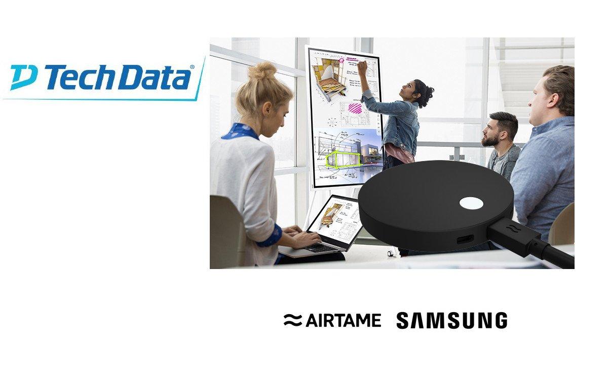 Techdata bündelt Samsung Flip mit Airtame (Foto: Techdate)