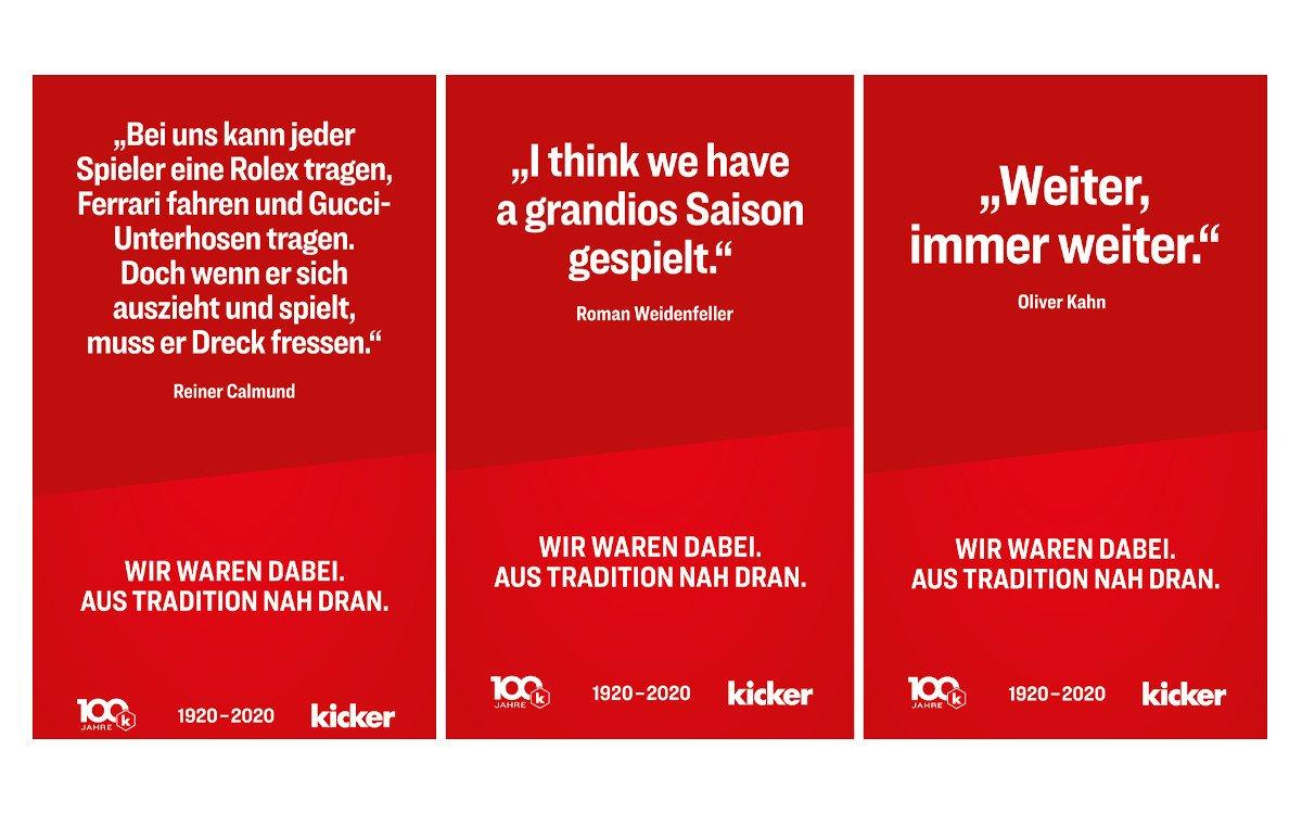 Kicker DooH-Jubiläumskampagne (Fotos: Kicker)