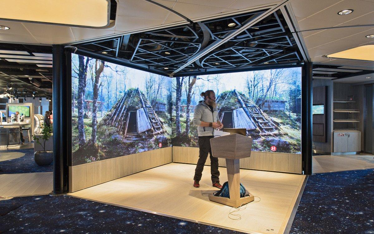 Hurtigruten Science Center - voll digital (Foto: Hurtigruten)