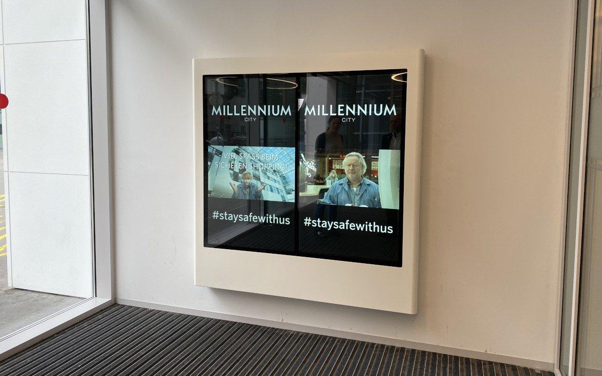 Millenium Mall in Wien mit neuem Digital Signage Netzwerk (Foto: Dynascan)
