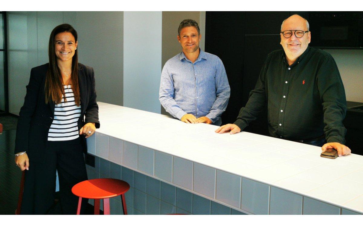Carmen Viudez, Head of Product Management, Oliver Schibli, Director Business Development, Martin Radelfinger, Verwaltungsratspräsident und Geschäftsführer ad interim. (Foto: Goldbach)