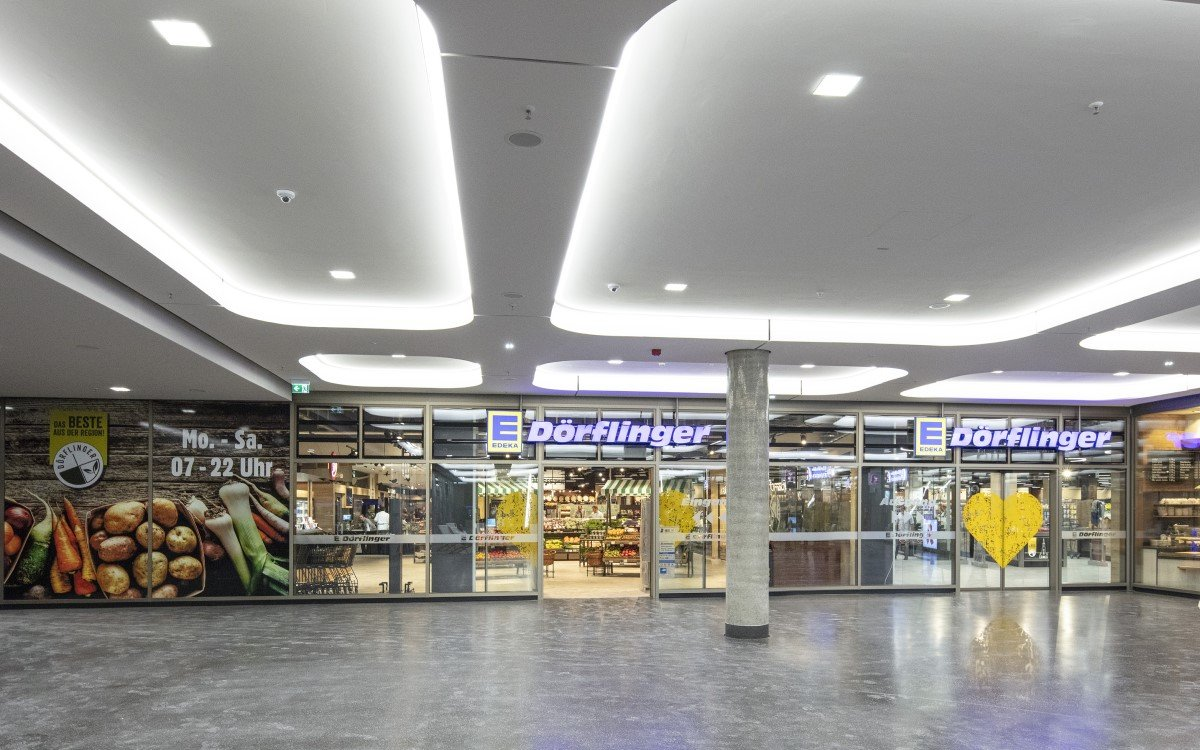 Der EDEKA Dörflinger in den neuen Ulmer Sedelhöfen (Foto: Wanzl)