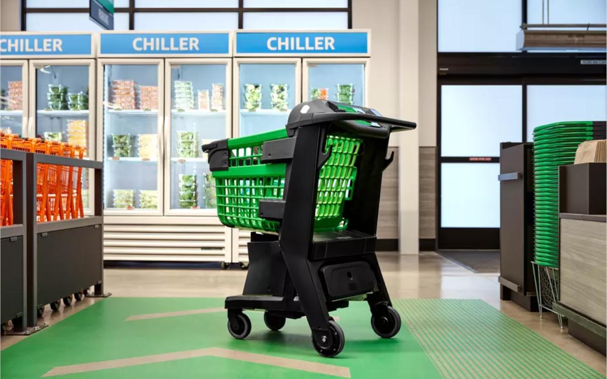 Das neue Amazon Dash Cart soll das Go-Erlebnis direkt im Einkaufswagen in beliebige Supermärkte bringen (Foto: Amazon)