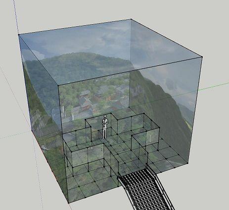 "Concept des ""Light and Shadow Cube"" (Foto: Christie)"