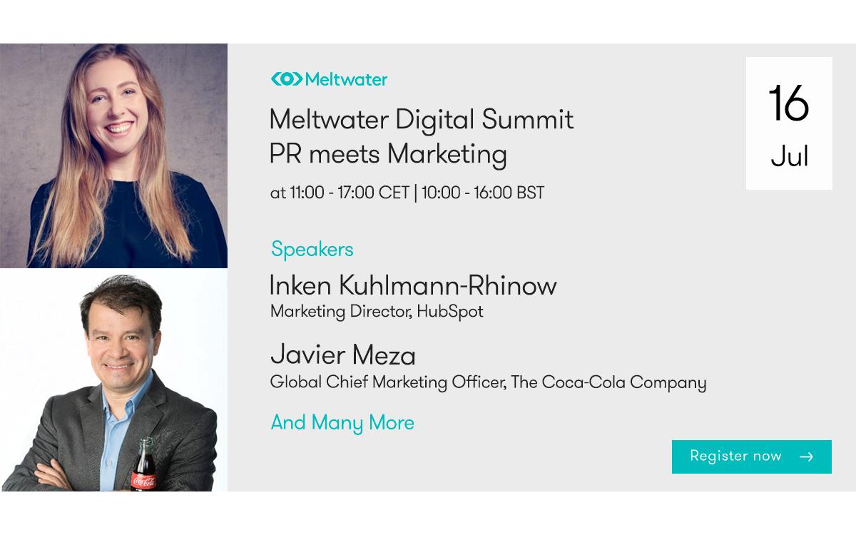 """SaaS-Unternehmen Meltwater lädt am 16. Juli zum Digital Summit """"PR meets Marketing"""" ein (Foto: Meltwater)"""