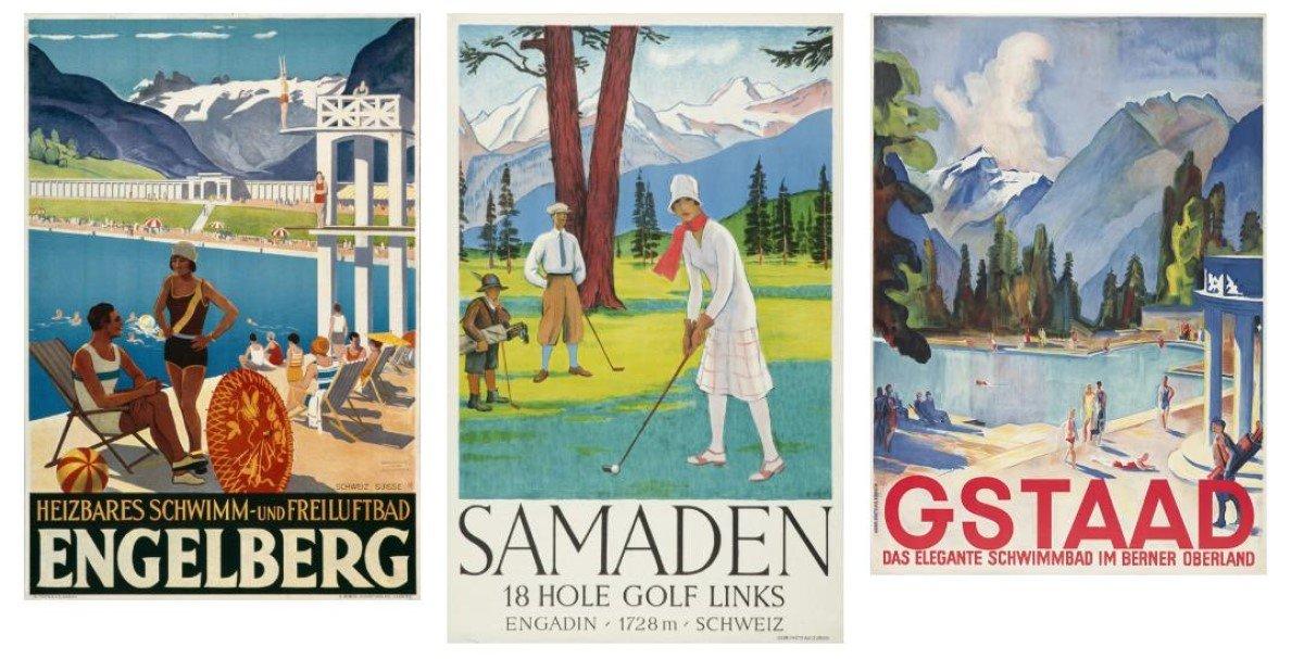 """Im eMuseum des Schweizer Außenwerbers APG SGA ist derzeit die Plakat-Sonderausstellung """"Sommer und Sport in der Schweiz"""" zu sehen (Foto: APG SGA)"""
