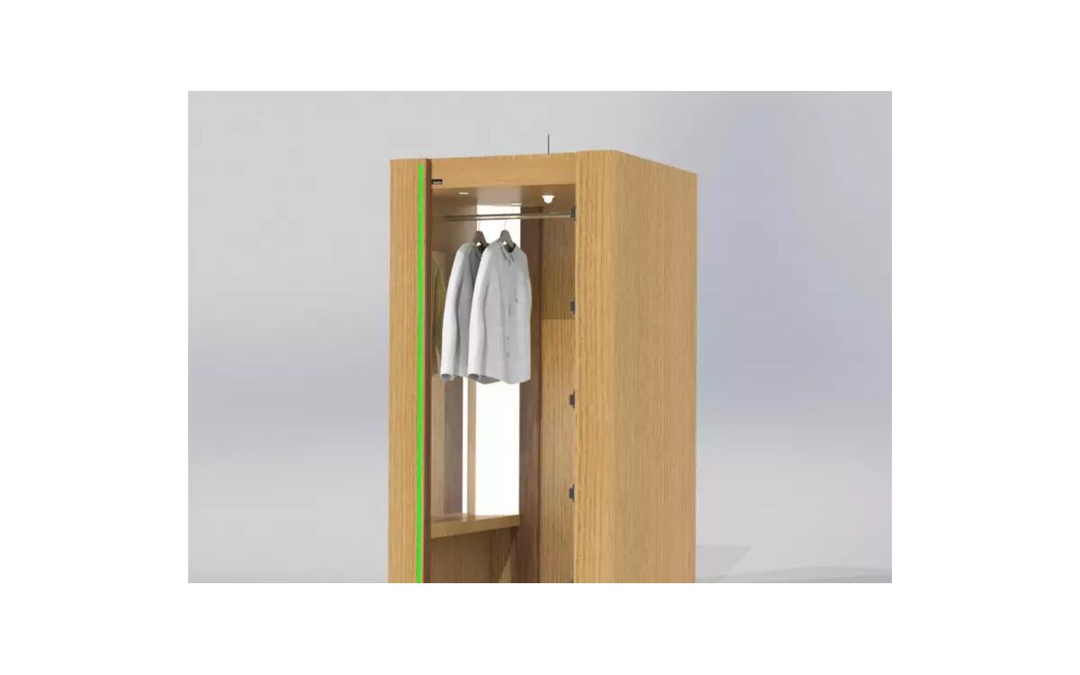 Das umdasch UV-C Cabinet desinfiziert sich nach der Nutzung durch Kunden selbst (Foto: umdasch)