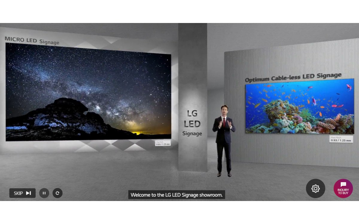LG Digital Connect virtueller Showroom (Foto: SCreenshot)