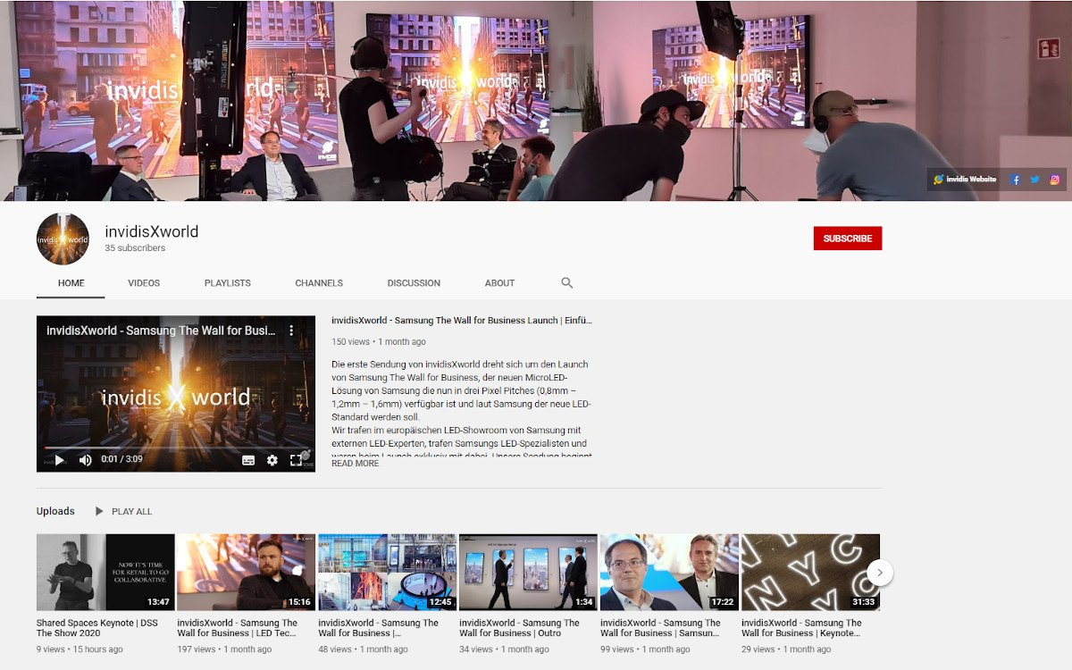 invidis und DSS Videos bei invidis X world (Foto: Screenshot)