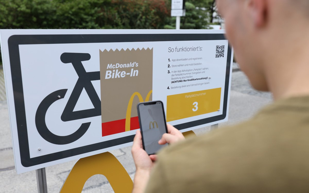 McDonalds Drive-Thru jetzt auch für Fahrräder (Foto: McDonalds)