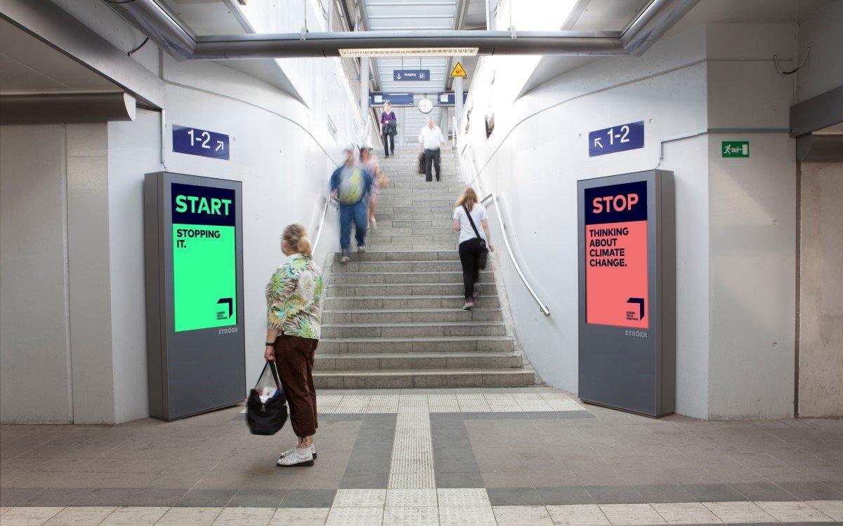 DooH-Werbung für das Greentech Festival bei Ströer (Foto: Ströer)