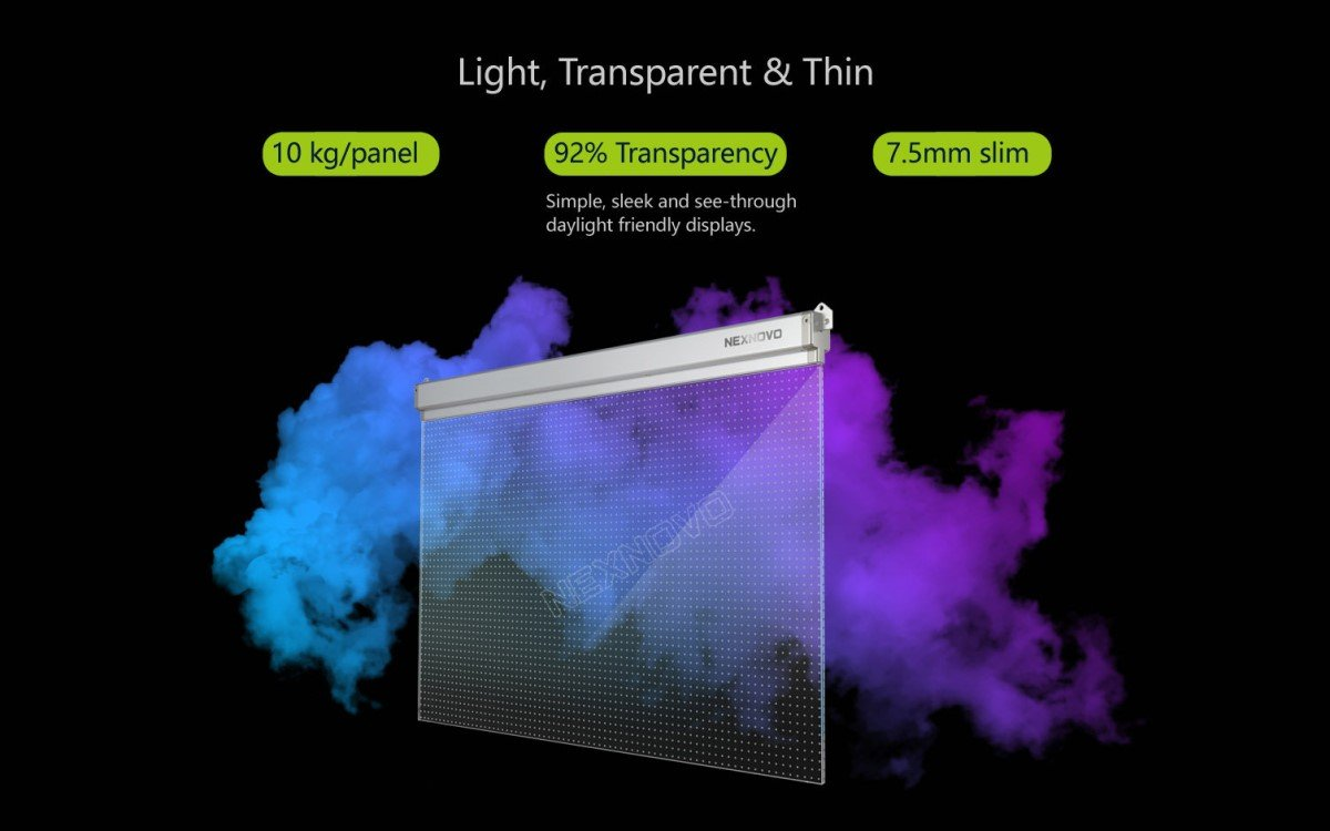 Nexnovo Glas-LED-Display (Foto: Nexnovo)
