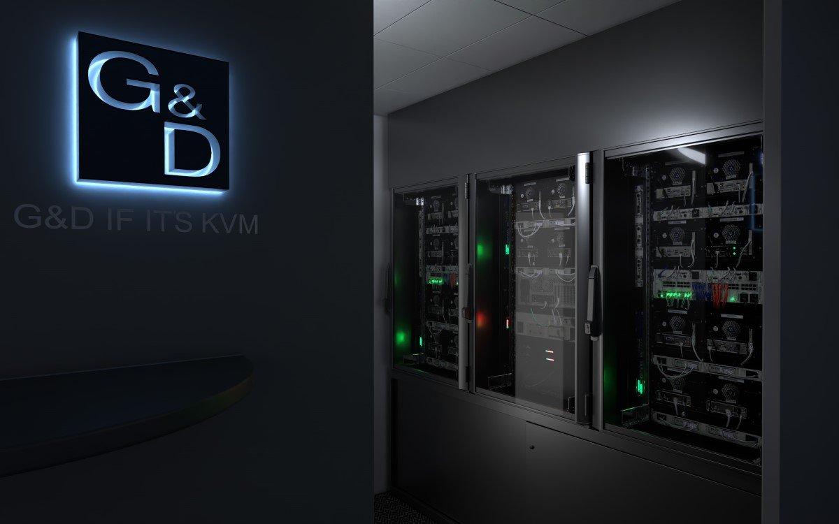 Server-Rack der G&D ControlCenter-Xperience (Foto: Guntermann & Drunck)