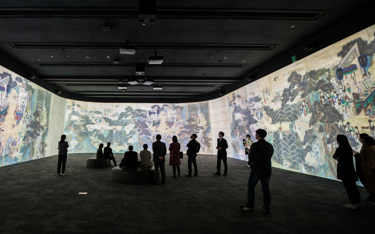 Die Immersive Digital Gallery im koreanischen Nationalmuseum mit Projection Mapping-Technologie von Christie (Foto: National Museum of Korea)