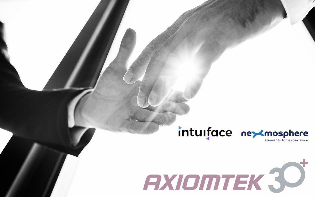 Axiomtek gibt eine neue Partnerschaft mit Intuiface und Nexmosphere bekannt (Foto: Axiomtek)