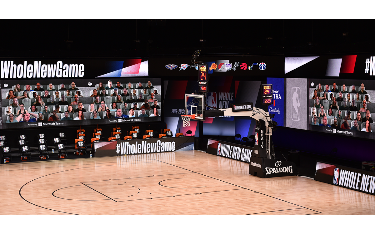 Microsoft und die NBA bringen Fans digital zu den Spielen der Saison 2019/2020 (Foto: NBA/Microsoft)