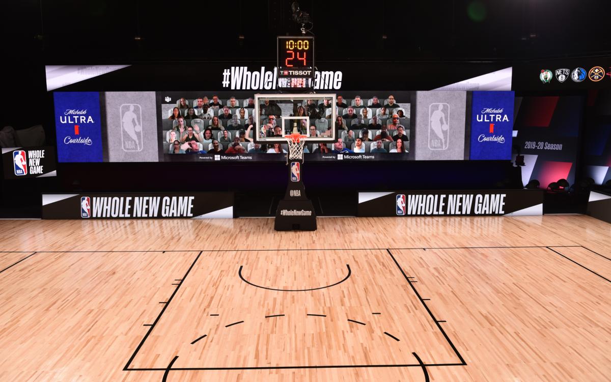 Der Teams 'Together-Modus' soll Basketballfans eine digitale Experience am Spielfeldrand bieten (Foto: NBA/Microsoft)