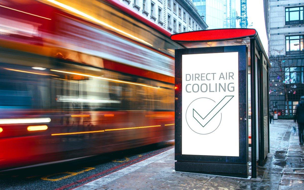Die GORE Cooling Filters ermöglichen die Kühlung empfindlicher Elektronik in Digital Signage-Installationen mit Umgebungsluft (Foto: W. L. Gore & Associates)
