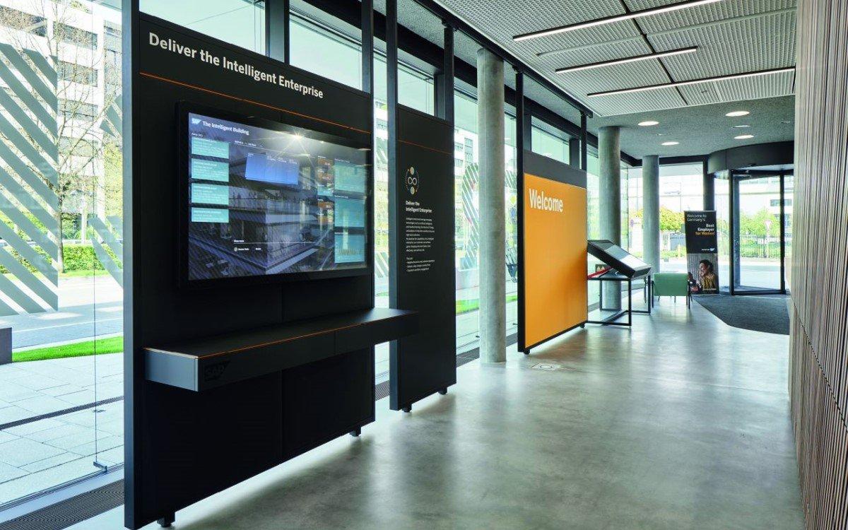 Digital Signage im SAP Experience Center in Walldorf (Foto: Visplay/Annika Feuss Fotografie)