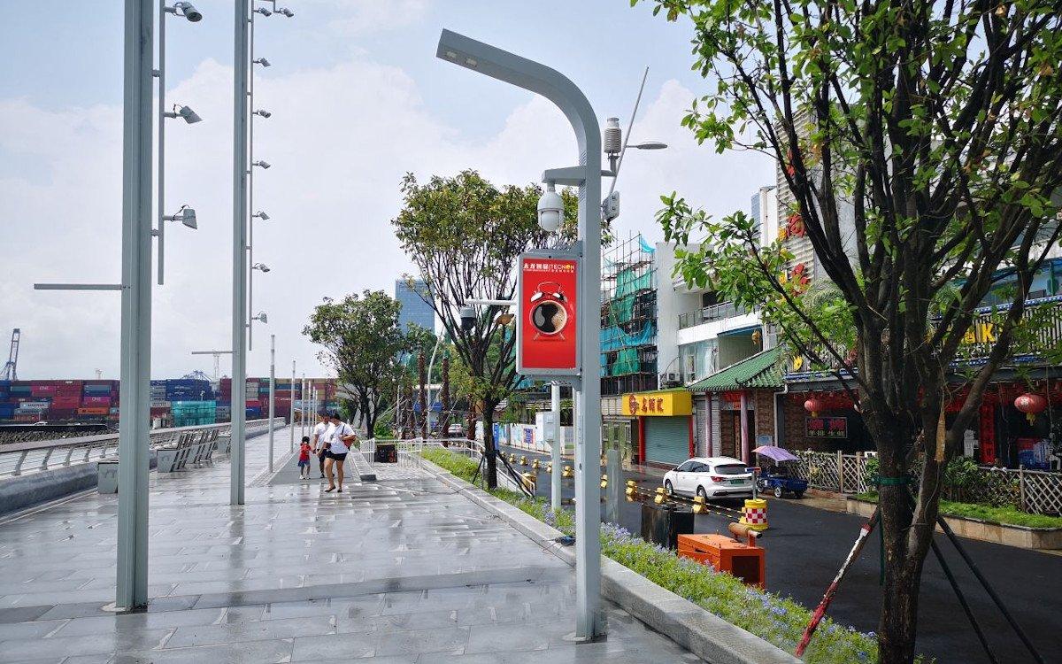 Smart Poles am Hafen von Shenzen