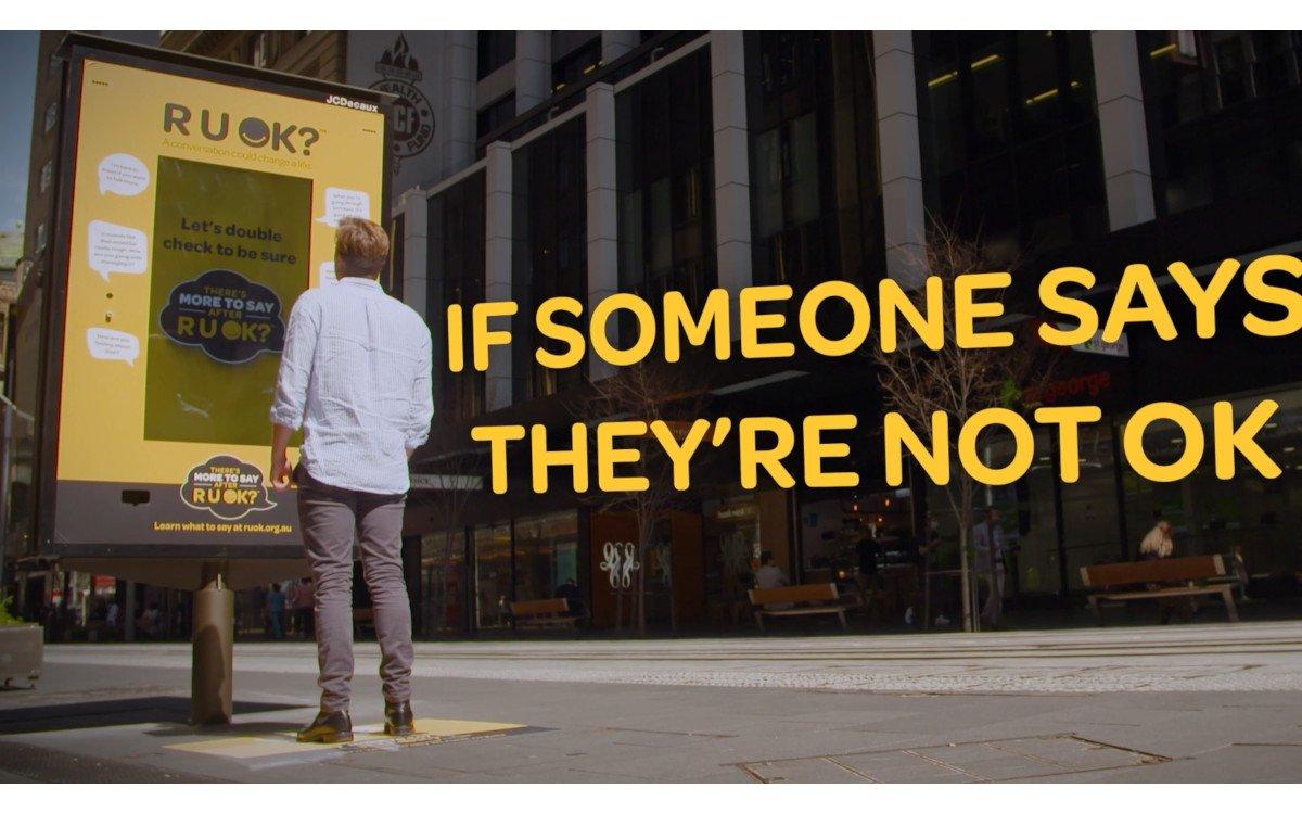 Suizidpräventionskampagne in Australien (Foto: JCDecaux)