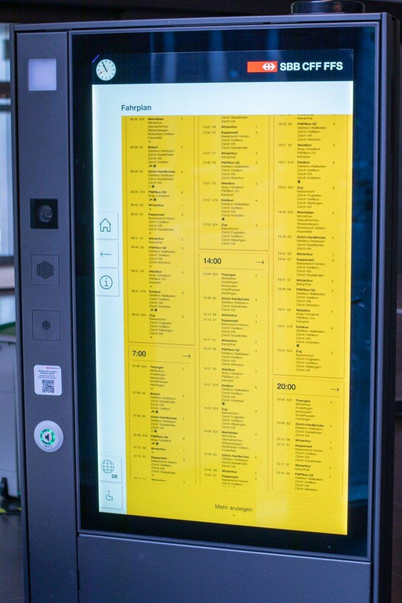 SBB investiert 50 Mio SFR in Touchscreens an 500 Bahnhöfen (Foto: SBB)