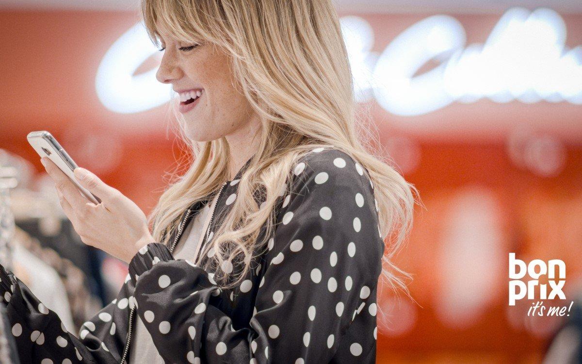 """bonprix gewinnt mit seinem """"fashion connect""""-Shoppingkonzept, das Online- und Offlinehandel geschickt kombiniert, den World Retail Award (Foto: bonprix)"""