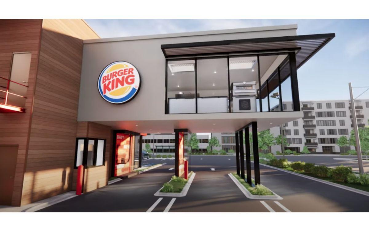 Mehr Platz für Drive-Thru- oder To-Go und die Küche direkt darüber – Das neue Post-Corona Konzept bei Burger King (Foto: Burger King)