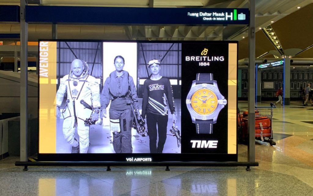 LED-Installation mit Absen Tech im Kuala Lumpur Airport (Foto: Absen)