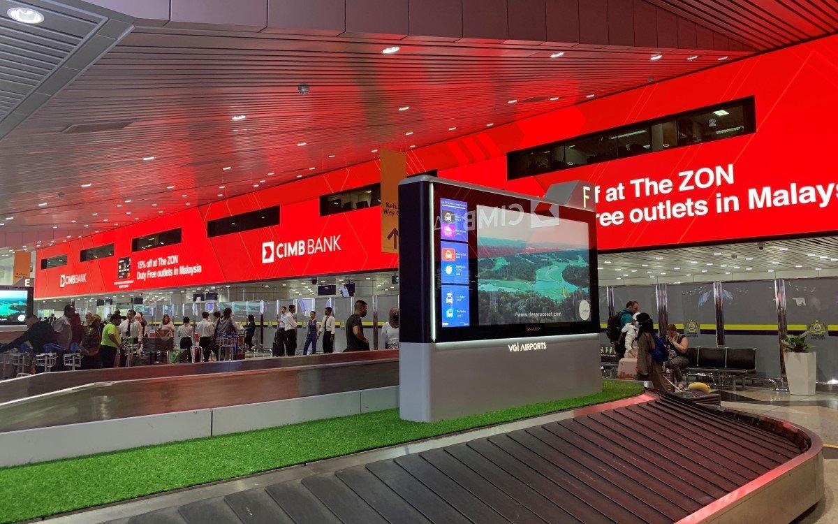 Digital Dream, die neue 400qm große LED-Videowall von Absen im Kuala Lumpur International Airport Malaysia (Foto: Absen)