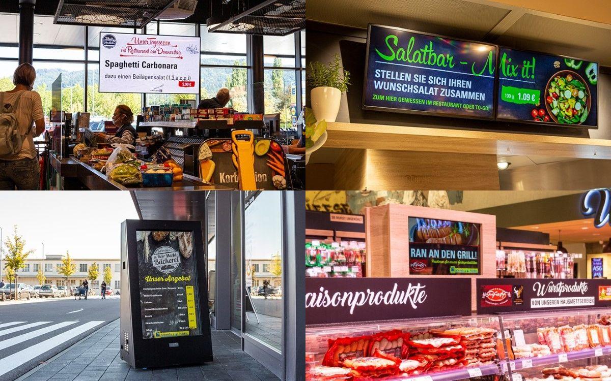 Digital Signage im XL EDEKA Markt in Bad Säckingen von Wedeko (Foto: Wedeko)