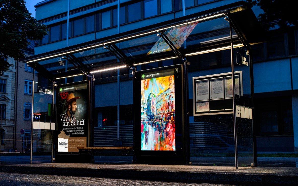 Epamedia Digital Signage-Stelen in Innsbruck (Foto: Epamedia)