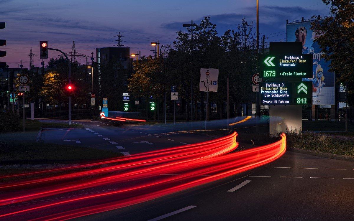 LED-Parkleitsystem von Innlights im Centro Oberhausen (foto: Innlights Displaysolutions)