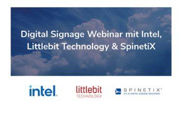Intel, Littlebit Technology & SpinetiX laden am 24. September zum Digital Signage Webinar (Foto: Spinetix)