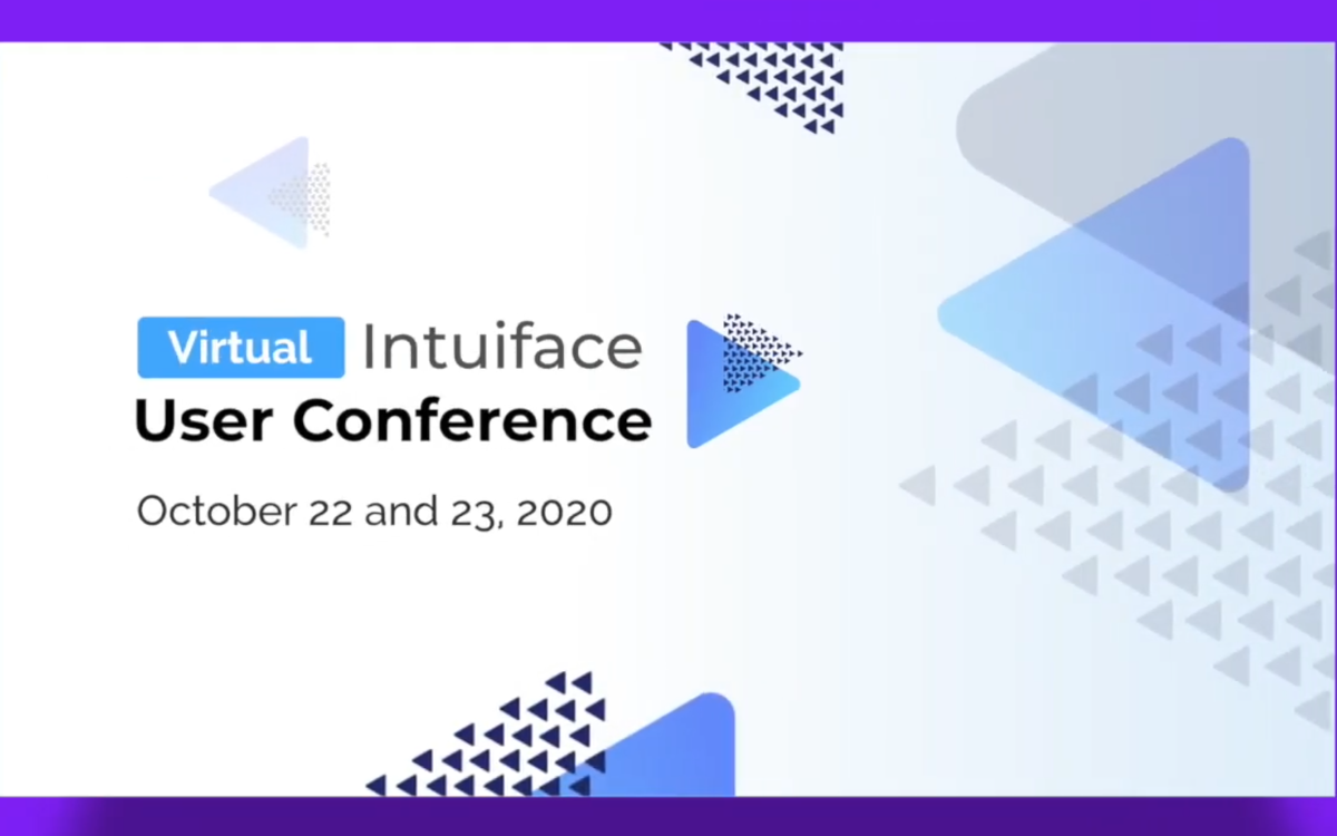 Die jährliche Intuiface USer Conference findet in diesem jahr am 22. und 23. Oktober virtuell statt, die Teilnahme ist kostenlos (Foto: Intuiface)